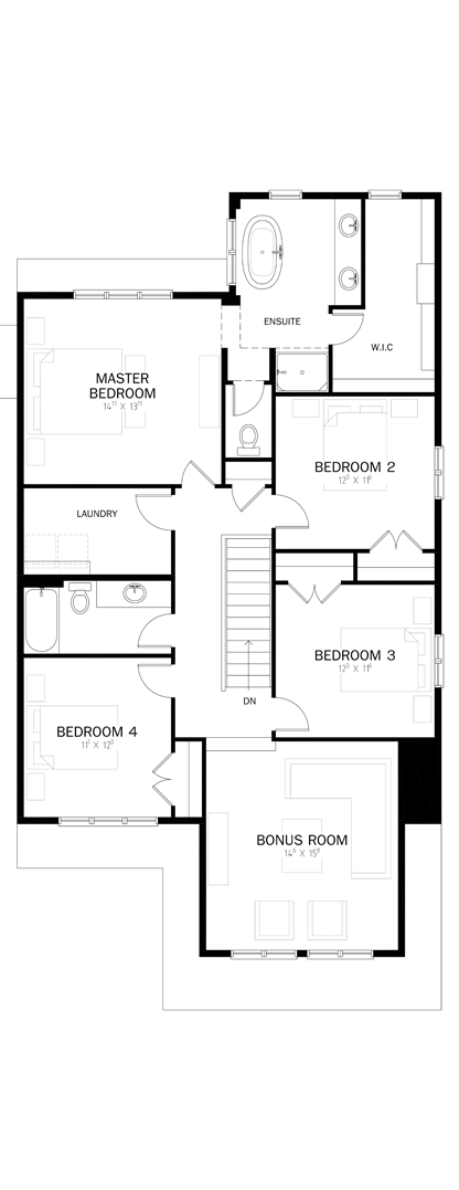 - Upper Level with 4 bedrooms