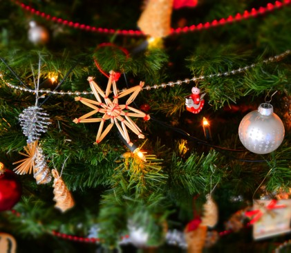 close up of christmas decoration hanging on tree 250177 2